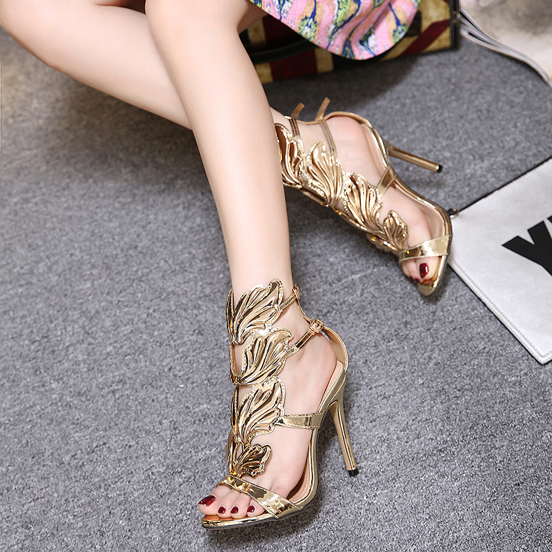 New Women Luxurious Pumps Celebrity Wearing Fashion Style PVC Buckle Sandals High Heels Party Wedding Shoes Sexy Sandals Rtg5