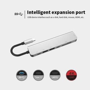 Image 4 - Estación de acoplamiento 7 en 1 para ordenador portátil, TYPE C PD, concentrador USB, Multi superficie de carbono, puerto HDMI de alta velocidad para Lenovo, Samsung, Dock, Macbook Pro
