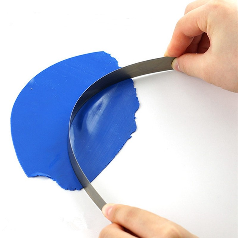1PC DIY Pottery Flexible Stainless Clay Polymer Handicraft Clay Cutter Blade Ceramic Tools Modeling Fabric Art Sculpting Slicer