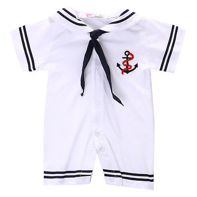 Sailor Style Newborn Baby Infant Toddler Boy Costume   Romper   Short Sleeve One Piece Jumpsuit Playsuit Summer Casual Baby Clothes