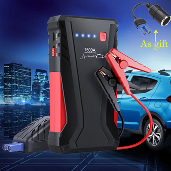 GKFLY Emergency 12V 1500A Car Jump Starter Portable Starting Device Power Bank Petrol Diesel Car Charger For Car Battery Booster