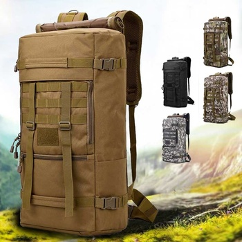 50L Outdoor Backpack Military Molle Tactical Bag Rucksack Backpacks Hiking Camping Camouflage Water Resistant Sport Bags