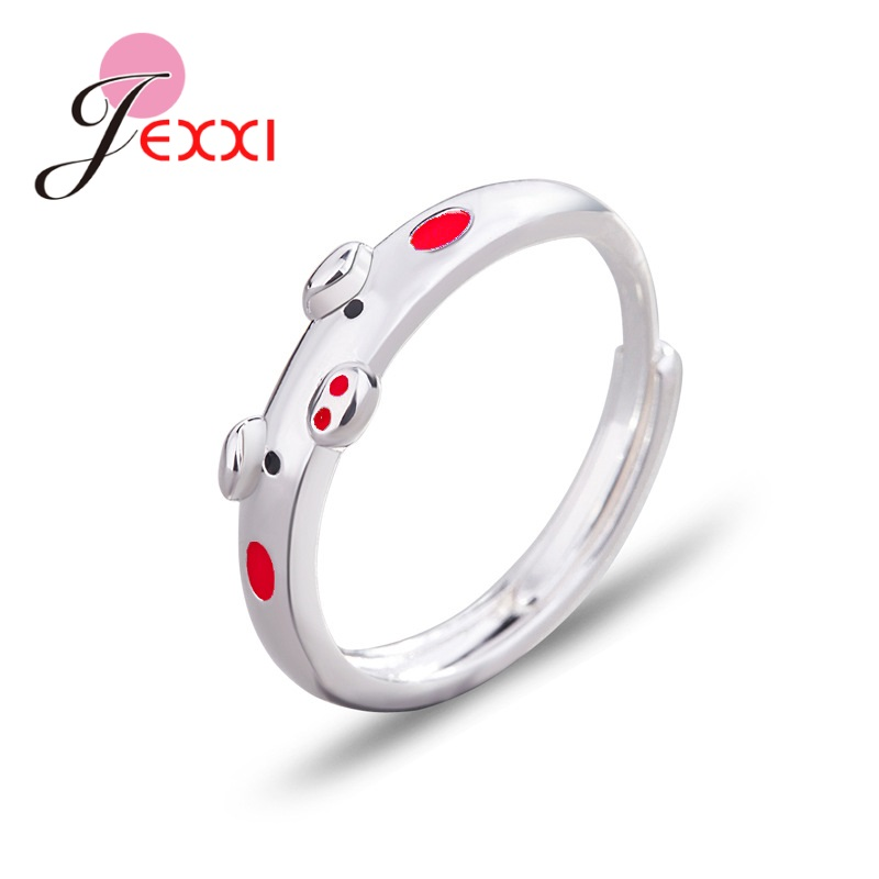 Women Solid 925 Sterling Silver Open Rings Lady Female Anniversary Jewelry Gifts