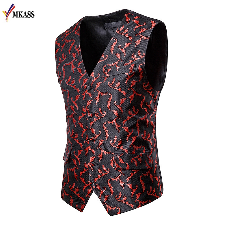 Suit Vest Waistcoat Dress Wedding Formal Business Man Work Male Fashion Slim Autumn