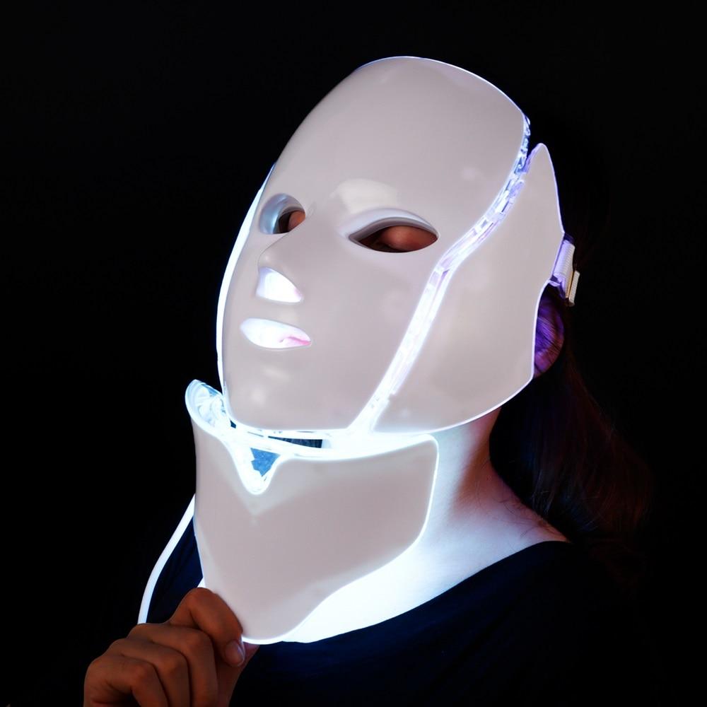 7 Colors Electric Led Facial Mask Face Mask Machine Light Therapy Acne Mask Neck Beauty Led Mask Skin Rejuvenation
