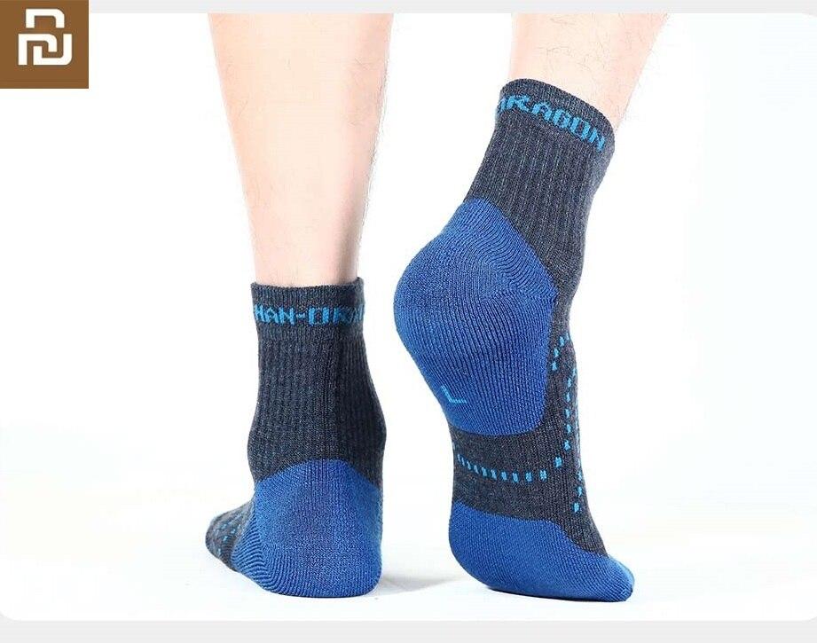 Youpin Men Sports Outdoor Function Wool Socks  Soft Skin-friendly Wool Antibacterial Deodorant Autumn  Winter Warm Socks