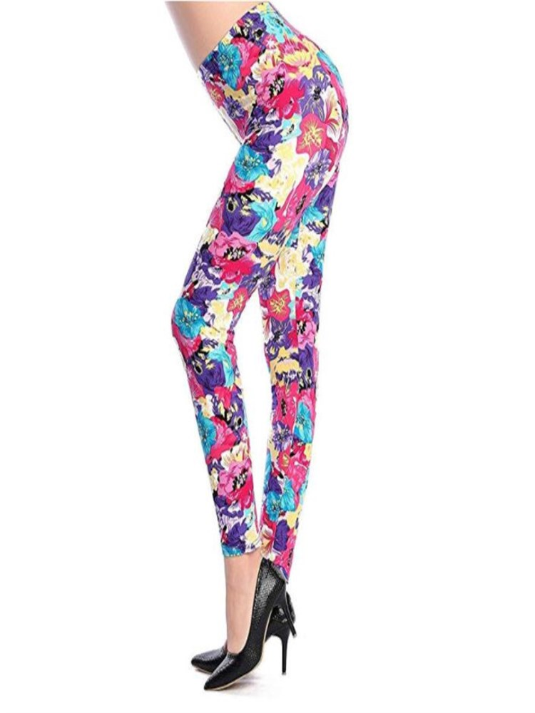 Women/'s Buttery Soft Abstract Squares Leggings OS 2-12 Full Length One Size NWT