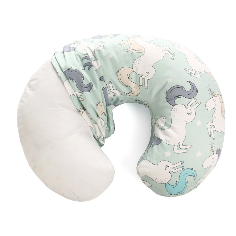 2020 New Baby Pillow Cover Toddler Kids Cartoon Print U Shape Pillow Slipcover Comfy Newborn Nursing Breastfeeding Pillow Cover