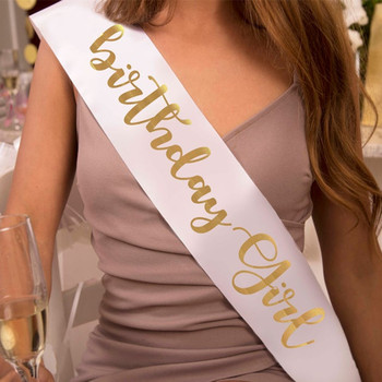 Custom Satin Sash. Birthday Girl Gift. Personalized Wedding Bride Party Decoration Supplies - discount item  7% OFF Scarves & Wraps