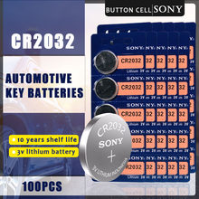 100PCS SONY Originale CR2032 Batteria Delle Cellule del Tasto 3V Batterie Al Litio CR 2032 per la Vigilanza A Distanza Giocattolo Calcolatrice Del Computer di controllo