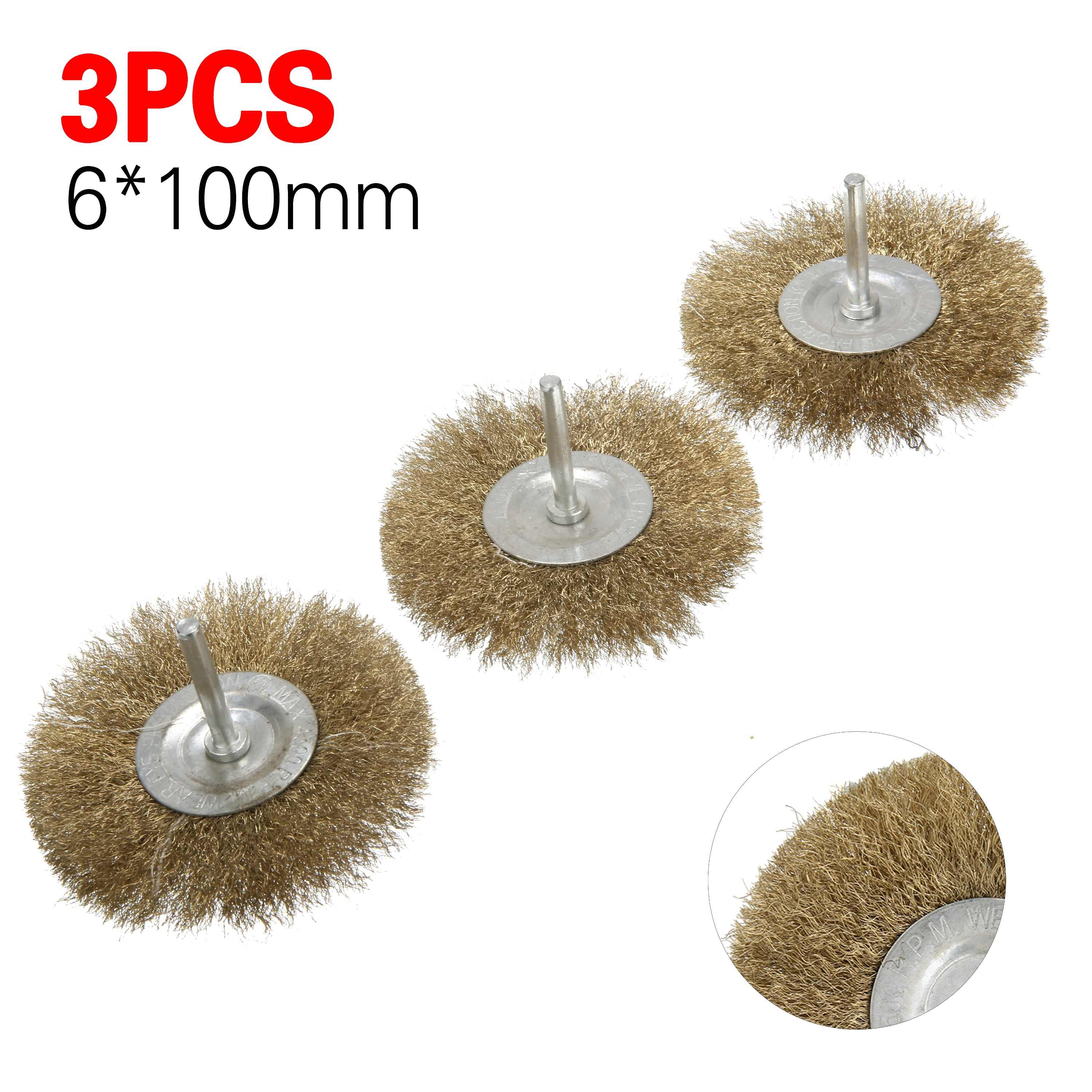 4Pcs 50-100mm Stainless Steel Wire Brush Twist Wire Wheel For Metal Rust Removal