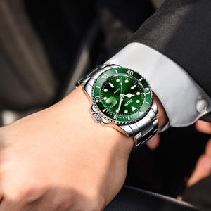 Image 4 - DOM Casual Business Watches Men Green Top Brand Luxury Solid Steel Wrist Watch Man Clock Fashion Waterproof Wristwatch M 1263