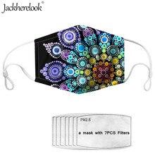 Jackherelook 2020 New Face Mask Anti-Dust 7PCS Filters Paper Bohemian Flower Print Fashion Mascarilla Facial Mask PM2.5 Washalbe