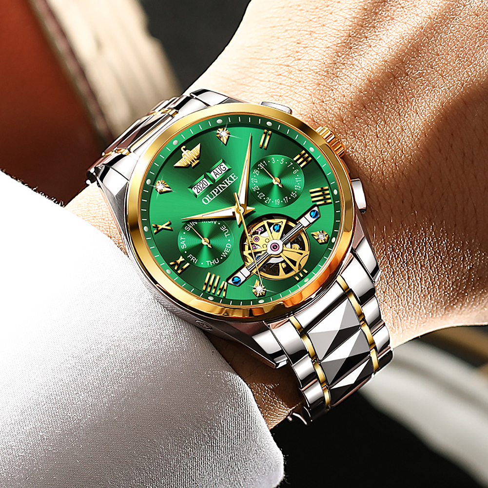 Top Luxury Brand Automatic Watch Men Mechanical Tourbillon Sapphire Tungsten Steel Waterproof Wrist Watches Relogio Masculino 2