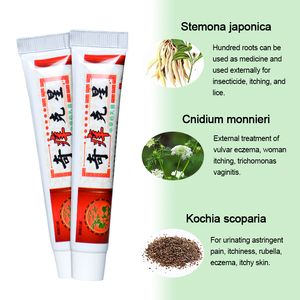 Image 2 - 1pcs Chinese Herbal Antibacterial Cream Antipruritic Ointment Psoriasis Dermatitis Eczematoid itching Pain Relief Plaster P1071