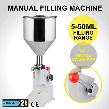 A03Stainless Steel Material Manual Cream Shampoo Paste Filling Machine 5-50ml bottle filler liquid machine honey filling machine high quality manual hand pressure food filling machine paste liquid filler cream filling machine 1 50ml