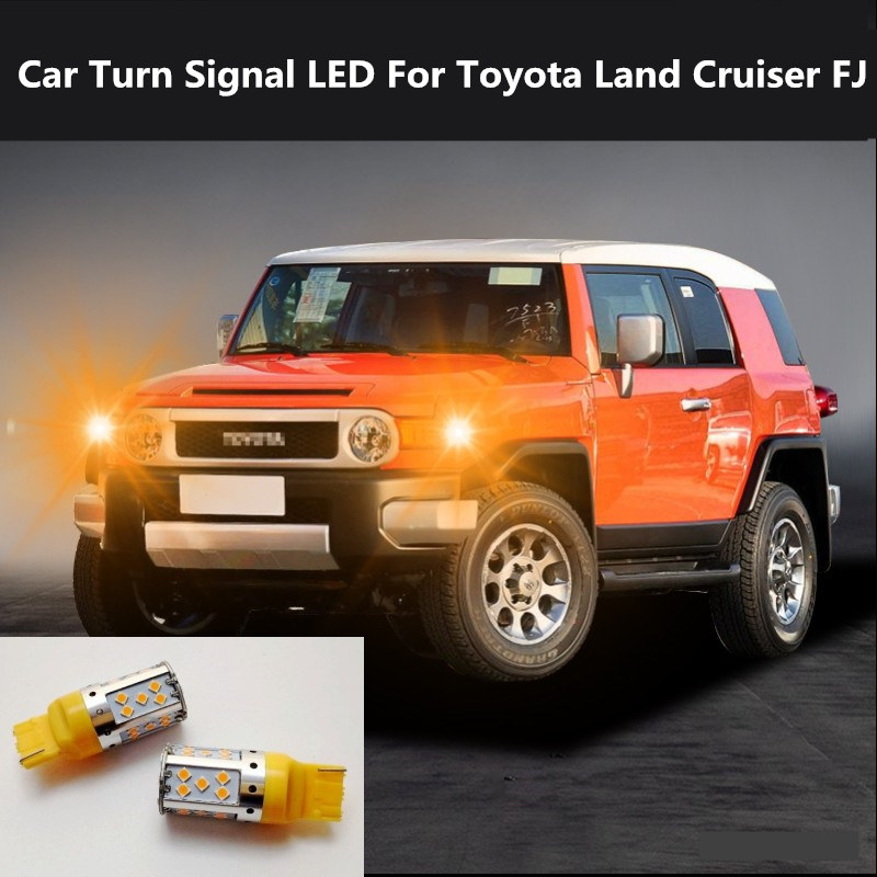 Car Turn Signal LED For Toyota Land Cruiser FJ Command light headlight modification 12V 10W 6000K 2PCS image