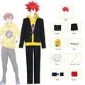 2021 новый аниме SK8 бесконечности реки Kyan желтый костюм Косплей свитер с капюшоном куртка SK восемь красный парик одежда для скейтборда