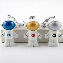 Astronaute de l'espace porte-clés mignon Robot pendentif fusée saturne Alien pendentif porte-clés femmes pochette, porte-clé clé pendentif bibelot