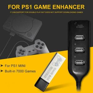 Image 2 - 176 מודלים 128G 7000 משחקי משחק מורחב כפול לשחק נייד בית קלאסי עם רכזת משחק ילדי כפול לשחק עבור PS1 מיני