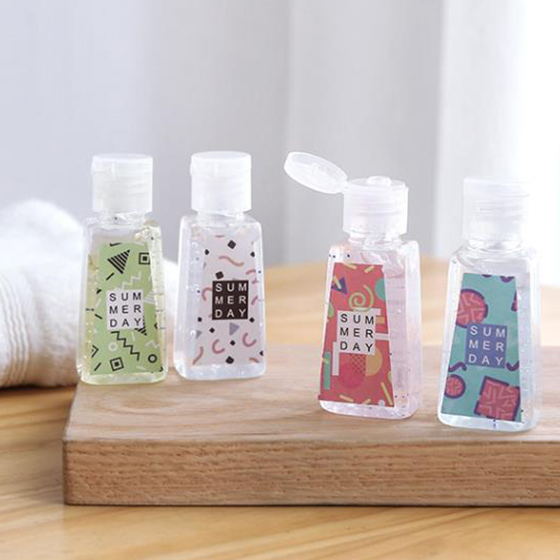 30ML 2020 Random Color Reusable Mini Hand Sanitizer Disposable No Clean Moisturizing Sterilization Disinfection Safe Hand Gel