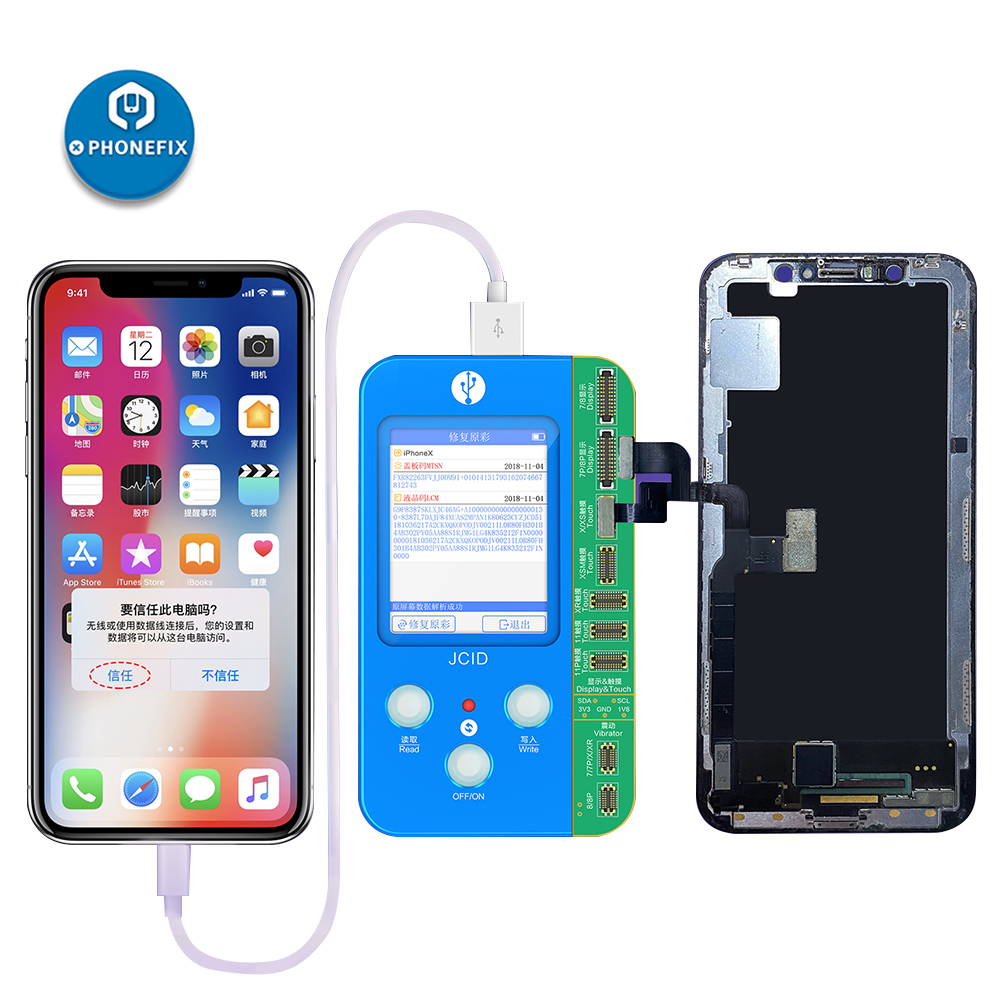 JC V1S V1 Mobile Phone Code Reading Programmer For 7/8//X/XR/XS Max 11 Pro Max Original Color Battery Fingerprint Serial Number