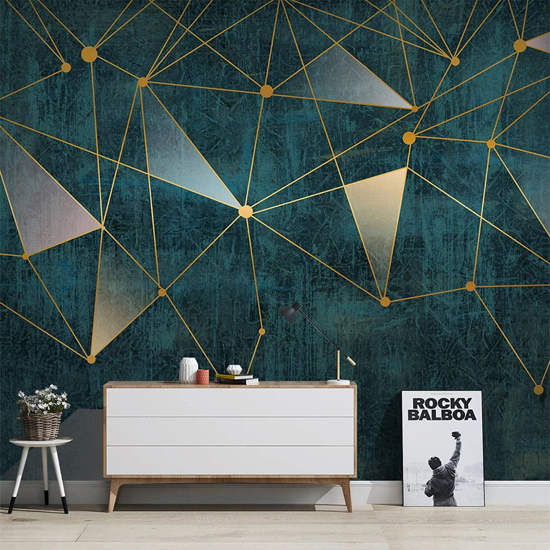 PVC Self-Adhesive Wallpaper Modern Simple Geometric Lines Murals Living Room TV Sofa Bedroom Backgorund Wall Stickers Home Decor