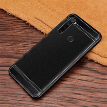 Redmi Note 8 Case  Litchi Texture Soft TPU Cover Fundas For Xiaomi Pro Global Version Coque Etui Kryt