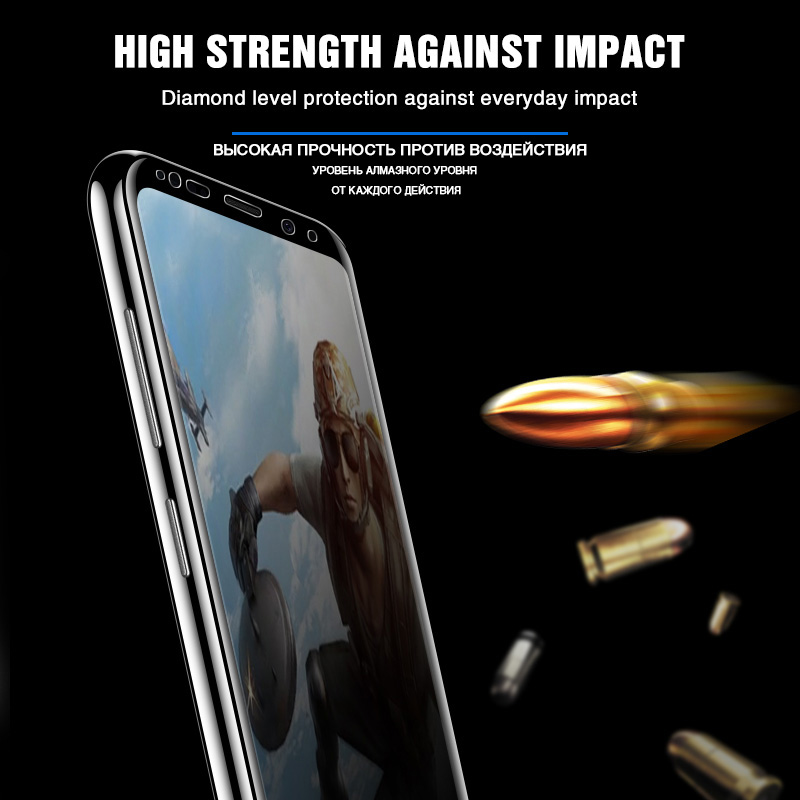 Image 3 - 200D curved Temped glass for samsung galaxy s8 s9 plus note 8 9 s6 s7 Edge a3 a5 screen protector on samsung s8 protective film-in Phone Screen Protectors from Cellphones & Telecommunications