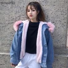 Basic Jackets Denim Daily Outwear Street Wear Womens Student