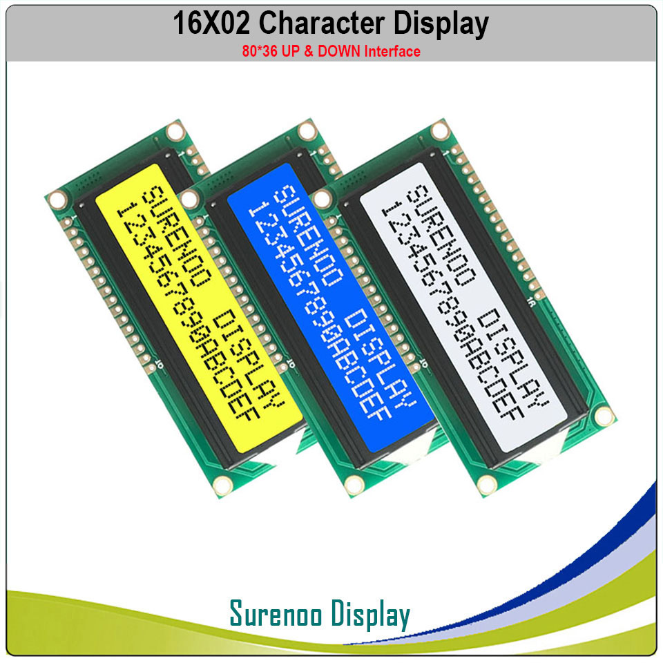 1602 162 16X2 Character LCD Module Display Screen LCM With Up And Down Interface Compatible With HD44780