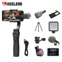 KEELEAD 3 Axis Gimbal Stabilizer Handheld Smartphone For iPhone 11 X Xs Max Samsung S8 S9 Xiaomi Huawei P30 Go pro Action Camera
