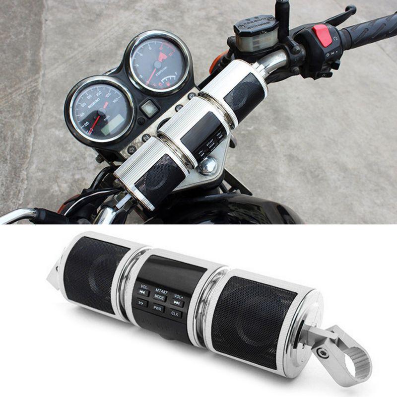 Motosiklet MP3 müzik çalar hoparlör Bluetooth FM radyo Stereo ayarlanabilir braket YHQ