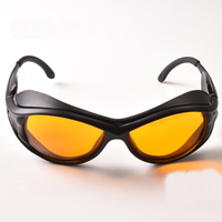 O.D 6+ laser safety glasses for violet and blue lasers CE With style 2 for 190-490nm lasers