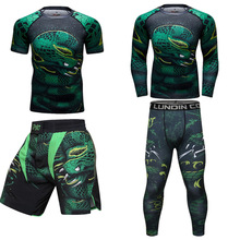 MMA Rashguard Rattlesnake Sport Suit 3D MMA Boxing Jerseys Men KickBoxing Muay Thai Shorts Breathable Fightwear Bjj MMA T-shirts цена