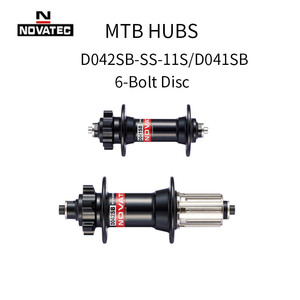 Novatec MTB Disc Hub D041SB D042SB MTB Bike Disc Card Brake Spoke Holes 24 28 32 36 Holes 8/9/10/11 Speed 6-Bolt Hubs