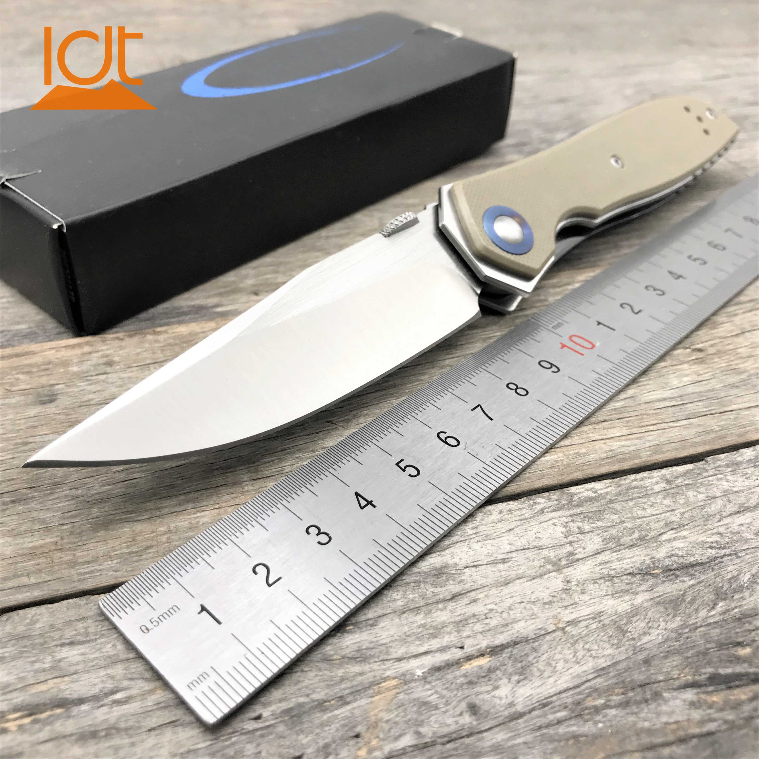 LDT 0640 Folding Knife CPM 20CV Blade G10 Handle Hunting Tactical Camping Knives Survival Pocket Outdoor Utility Knife EDC Tools