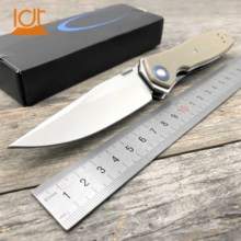 LDT 0640 Folding Knife CPM 20CV Blade G10 Handle Hunting Tactical Camping Knives Survival Pocket Outdoor Utility EDC Tools