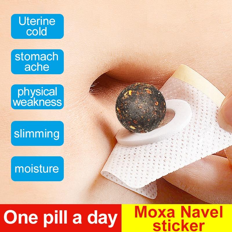 Cofoe 30pcs Moxibustion Moxa Navel Sticker Warm Uterus And Stomach Foot Moxa Paster Remove The Wet Poison Relieve The Undersleep
