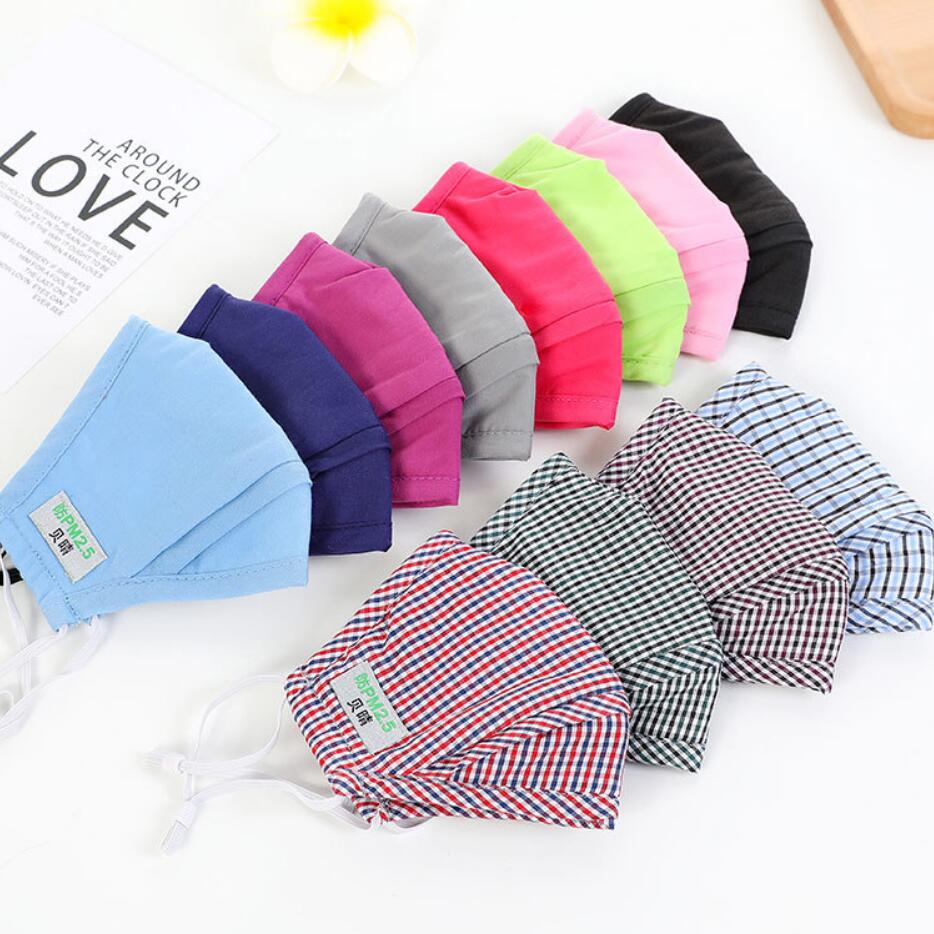 High Quality Men Women Cotton PM2.5 Mouth Mask Safe Anti-virus Masks Activated Carbon Filter Windproof Anti-dust Mask