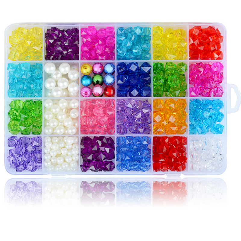 DIY Handmade Beaded Toy With Accessory Set Children Creative 24 Grid Girl Jewelry Making Toys Educational Toys Children GiftS