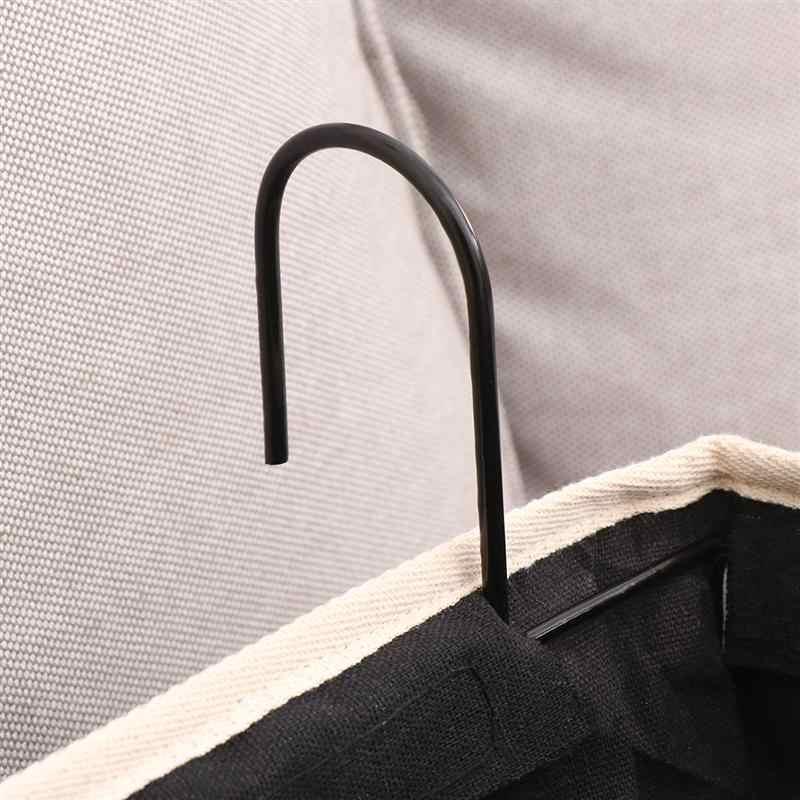 OUNONA 1 adet tuval kumaş başucu saklama çantası Anti toz asılı organizatör asılı çanta çanta yurt araba yatağı rayları (siyah)