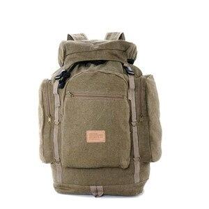 Image 1 - Công suất lớn retro vải mạnh mẽ lớn ba lô Đôi vai túi du lịch nam big ba lô hành lý túi
