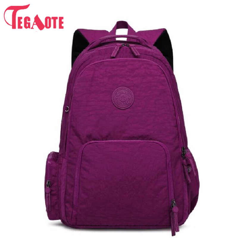 Fashion TEGAOTE Korean Canvas Printing Backpack Women School Bags for Teenage Girls Cute Rucksack Vintage Laptop Nylon Backpacks