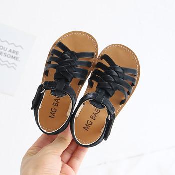 Obuwie dziecięce 2021 letnie nowe dziecięce tkane sandały miękkie dno dziecięce buty dziewczęce księżniczka buty dziewczęce skórzane sandały tanie i dobre opinie ISHOWTIENDA CN (pochodzenie) Lato W wieku 0-6m 7-12m 13-24m 13 5cm 14cm 14 5cm 15cm 16cm 17cm 17 5cm 18cm dla dziewczynek