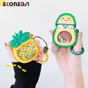 Image 5 - EKONEDA Liquid Glitter Protective Case For Airpods Strawberry Pineapple Avocado Silicone Cover For Airpods Case airpod pro shell