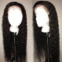 Парик HD из натуральных волос с прозрачной кружевной передней частью, 6 дюймов