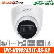 Dahua original IPC-HDW2431T-AS-S2 4mp poe built-in mic & sd slot para cartão ir 30m starlight substituir IPC-HDW4433C-A