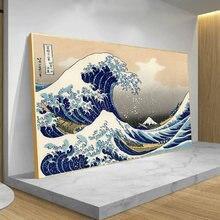 Büyük dalga Kanagawa japonya Vintage tuval sanat posterleri ve baskılar duvar tablosu hiçbir çerçeve ev dekor resim oturma odası için