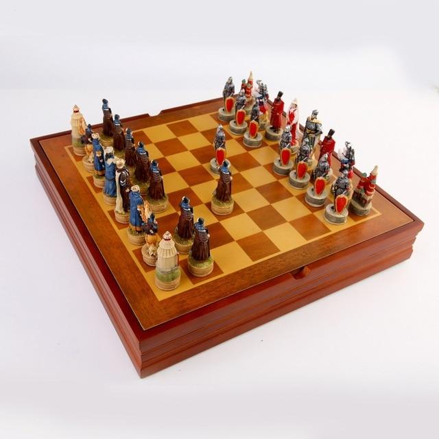 Jeu d'échecs avec personnages en en résine thème de guerre russe mongolie (guerre de la principauté de Ross) 5